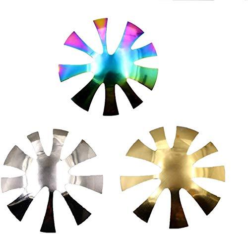 ISAKEN 3 piezas French Nails Edge Trimmer Acrílico Uñas Borde Cortaúñas Cortaúñas Metal Plantilla Cutter Cutter para acrílico UV Poliacrílico Gel Modelage French Smile Line Manicura Set
