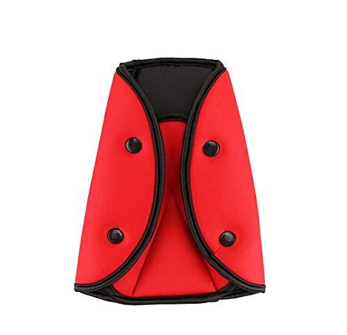 Cinturón de Seguridad Bebé Hombro Cubierta Asiento Cinturón Localizador Asiento Niño Asiento Ajuste Retenedor (Color Name : Red)