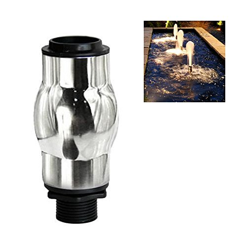 NAVADEAL Display Frothy Foam Jet Fountain Nozzle - 1' DN25 Stainless Steel Water Spray Sprinkler - for Garden Pond, Amusement Park, Museum, Library