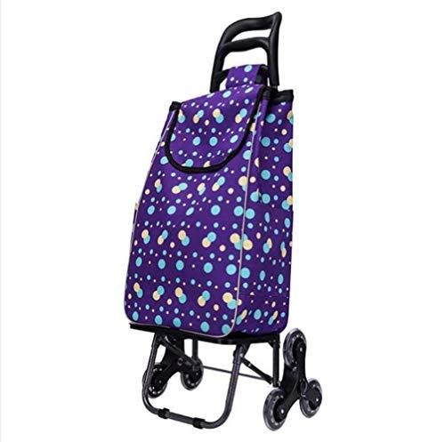 Pkfinrd Carro de compra plegable para hasta 110 kg, peso ligero, con ruedas de 6 ruedas, para lavandería, campamento y eventos deportivos.
