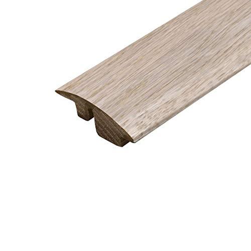 Massivholz Halbrampe 0,9 m Super White Eiche Türschwelle Halbrampe Stange 900 mm Farbe passend zu Kahrs Junckers Specht V4