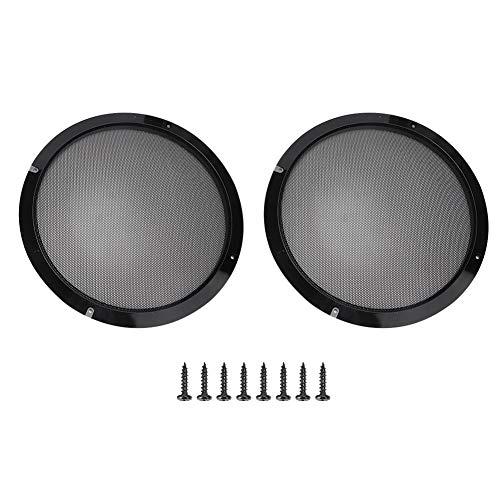Luidsprekerhoes, 2 stuks 10 inch zwarte luidsprekerhoornhoes auto ABS kunststof + metalen luidsprekerhoes, schroef wordt meegeleverd