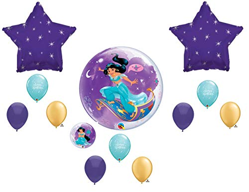 Jasmine Princess Aladdin Birthday Balloons Decoration Supplies