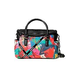 Desigual Accessories PU Hand Bag, Sac à Main. Femme, Rouge, U
