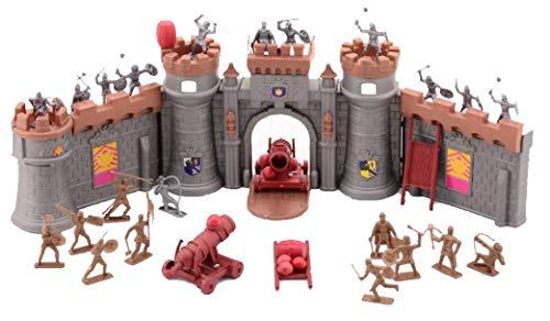 Ritter und Schlösser werden mit Zubehör gebaut