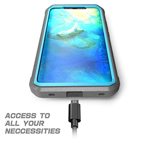 SupCase Huawei Mate 20 Pro Hülle 360 Grad Handyhülle Bumper Case Robust Schutzhülle Cover [Unicorn Beetle Pro] mit Integriertem Displayschutz für Huawei Mate 20 Pro/LYA-L29 (6.39 Zoll) 2018 (Blau)
