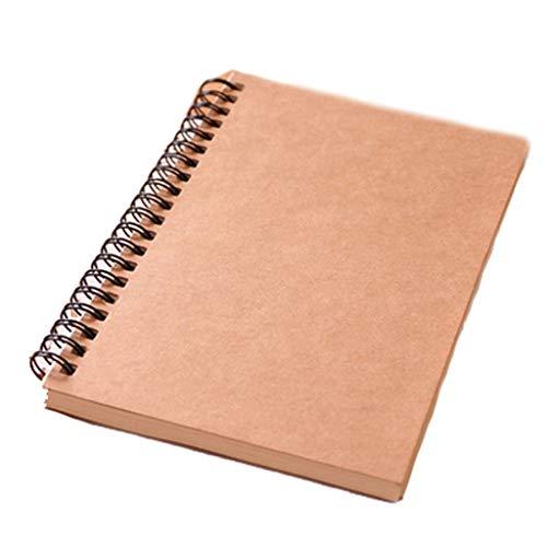 LCJQ Cuadernos de redacción Bosquejo Oxford Viajes Espiral Registro Pintura Cuaderno en Blanco Lineado Femenino Escribir CP Memo Oficina Tablero de Escritura Cuaderno Papel (Color : B, tamaño : 6PCS)