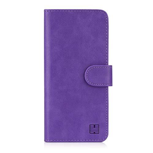 32nd PU Leder Mappen Hülle Flip Hülle Cover für Nokia 2.2 (2019), Ledertasche hüllen mit Magnetverschluss & Kartensteckplatz - Violett