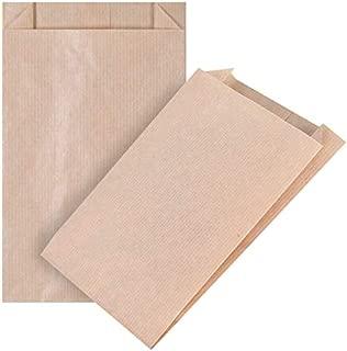 100 piezas Bolsas de Papel Regalo 12(2x2)20 cm - Bolsa Biodegradable Regalos Comunión para Invitados o para Guardar Comida, Semillas Flores, Dulces, Chuches, Pan - Bolsitas Kraft Marrón kgpack