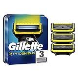 Gillette ProShield Cuchillas de Afeitar Hombre, Paquete de 3 Cuchillas de Recambio