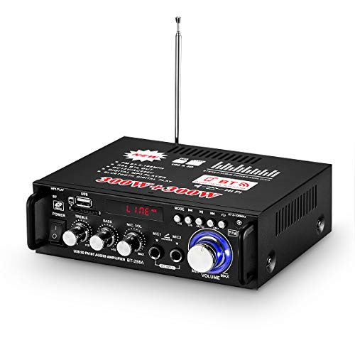 600W Digital Endverstärker Bluetooth Stereo Home Car Audio Verstärker USB SD FM MIC (BT-298A 600W)