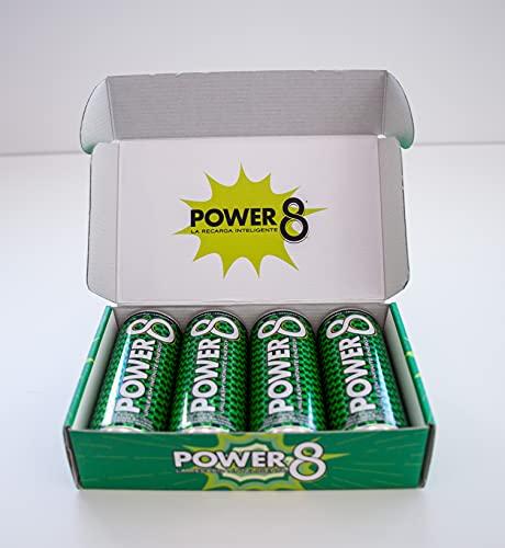 Power 8 Energy Drink Sabor Té Limón- Caja 4 latas - La primera bebida energética saludable es Power 8