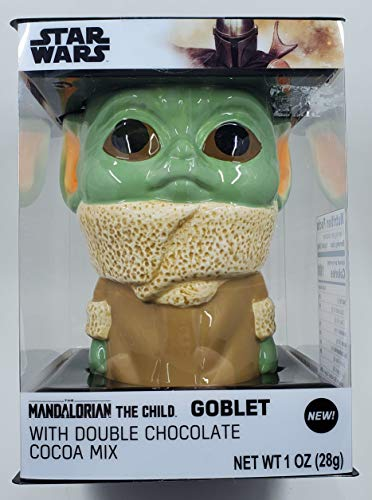 Star Wars the Mandalorian The Child Goblet With Double Chocolate Cocoa Mix - 5 1/2' Tall