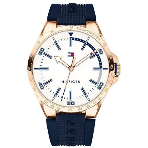 Tommy Hilfiger Heren Analoog Klassiek Quartz Horloge met Siliconen Band 1791526