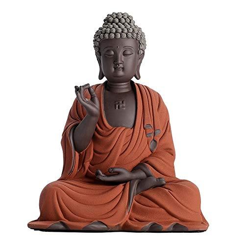 Buddha Statue of Shakyamuni, Ceramic Ornaments of The Sun Tathagata Buddha 22.5×15.5×27.5cm/8.86×6.1×10.8in, Home Decoration Ornaments