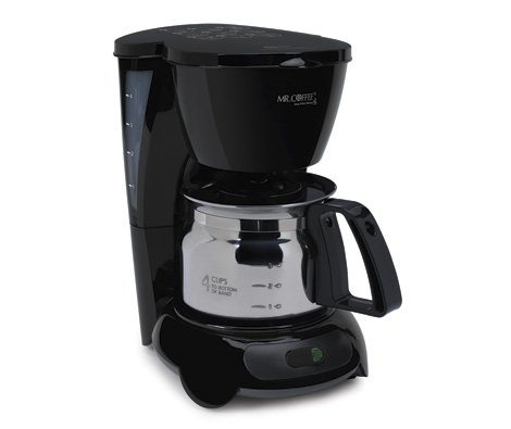 Mr. Coffee 4 Cup Coffee Maker with Stainless Steel Carafe