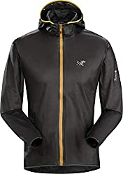 Arc'teryx Norvan SL Hoody Men's | Gore-Tex Running Jacket | Black/Photon, Small