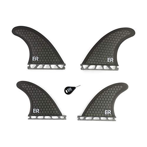 Eisbach Riders Tabla de surf Future de fibra de vidrio con aletas para tabla de surf y SUP (gris)