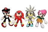 Set de juguetes de peluche Sonic de 4 piezas