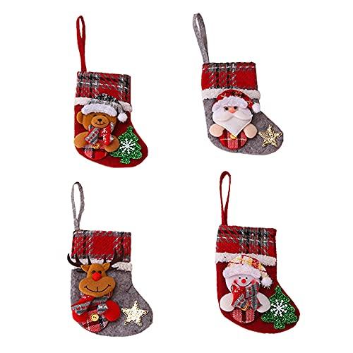 decorazioni natalizie da appendere Zwbfu Calza Natalizia