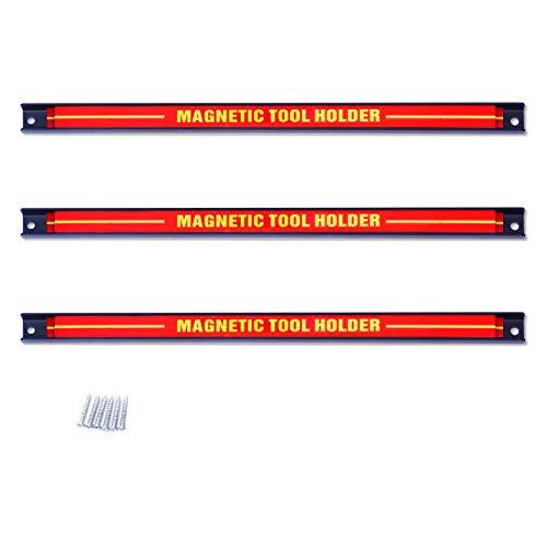 DREAMADE Magnetleiste Werkzeugleiste Magnet, Werkzeughalter Werkzeughalterung, Magnet Werkzeug Halterung, Belastbarkeit bis 10 KG (3 Stück)