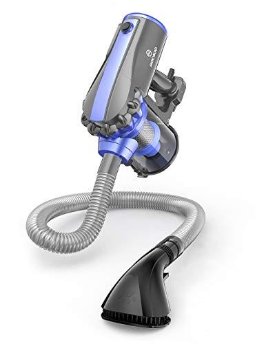 掃除機 17000Pa 600W MooSoo 最強吸引力 1.5kg超軽量 サイクロン式 スティッククリーナー 2Way 5mコード D600&アクセサリー (グレー)