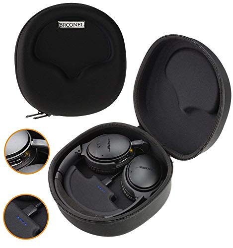 Broonel Hard Headphones Case/Cover with Built in 2500mAh Power Bank Compatible with The Beyerdynamic MMX300