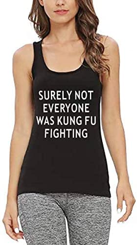 Womens Funny Workout Tank Tops Fitness Gym Sweat Racerback Sleeveless Shirts Surely Not Everyone product image