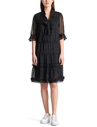Marc Cain Collections Damen MC 21.08 W79 Kleid, Schwarz (Black 900), 40 (Herstellergröße: 4)