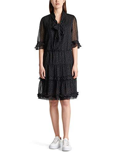 Marc Cain Collections Damen MC 21.08 W79 Kleid, Schwarz (Black 900), 46 (Herstellergröße: 7)