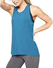 2020 New Plus Size Fitness Tank Tops for Women, FORUU Womens Workout Tank Tops Sequin Vest Summer Ladies Casual Camis Sexy Cute Tank Tops Loose Fit Running Yoga Tank Tops Active Tank Blue