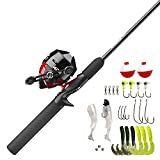 Zebco 404 Spincast Reel and Fishing Rod Combo, 5'6' 2-Piece Durable