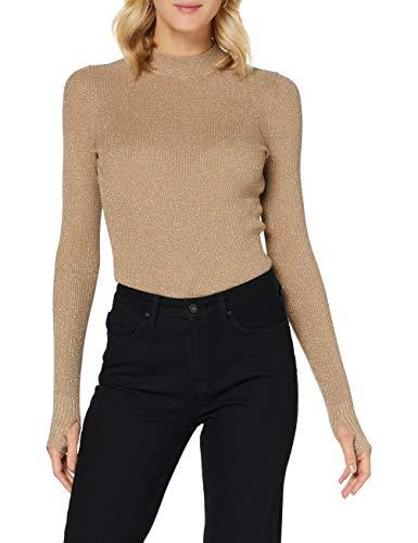 HUGO Damen Pullover Slok, Light/Pastel Brown236, X-Small