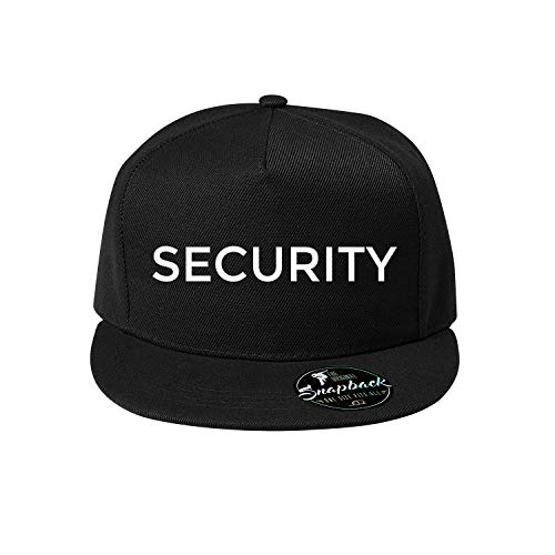 OwnDesigner Security Basecap mit Motiv für Herren und Baseball Cap für Männer (348 Cap Schwarz)