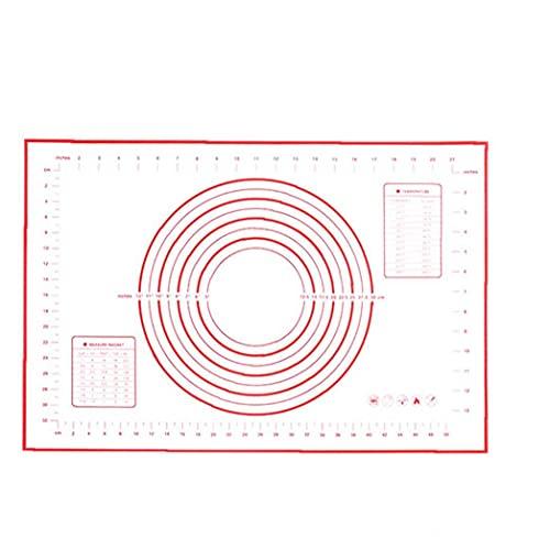 Silicona Formas de pastelería Mat Mat con Medición de amasado de masa Kit antideslizante antiadherente de amasado cojín de herramientas Gadgets para cocina