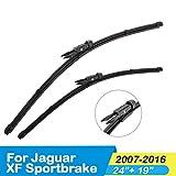 ASHDelk Escobillas de limpiaparabrisas de Coche, para Jaguar XF Sportbrake/XF (SV8) 2007 2008 2009 2010 2011 2012 2013 2014 2015 2016, Fit Pinch Tab Arm