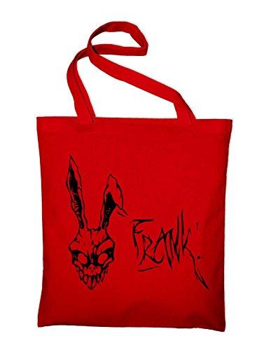Styletex23 Donnie Darko Frank Jutebeutel Baumwolltasche, red