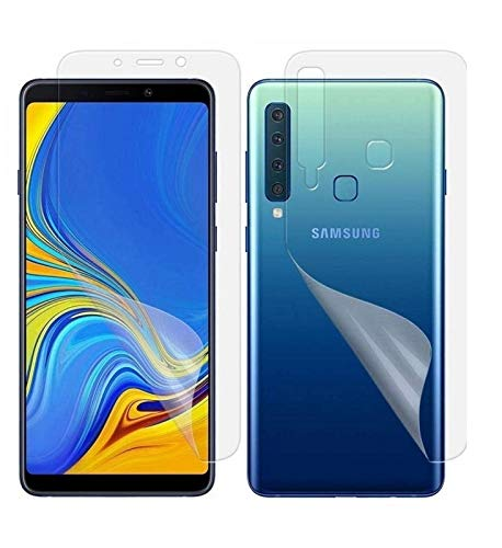 Blue Blood® 360° Buff Guard [Front + Back + Camera Lens] [Not Tempered Glass] Full Body Coverege Screen Protector for Samsung Galaxy A9 pro − List 1058