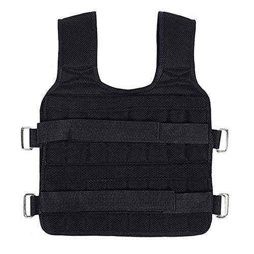 D&XQX Weighted Vest, Adjustable Loading Weight Jacket Exercise Weightloading Vest Boxing Training Waistcoat,Max Loading Capacity 20Kg,Not Incleded Steel Plate