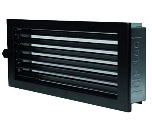 Warmluftgitter 23x23 schwarz Lüftungsgitter Ofengitter