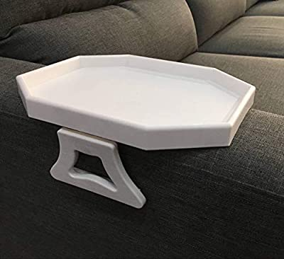Sofa Arm Clip Table, Armrest Tray Table, Drinks/Remote Control/Snacks Holder (WHITE) … by