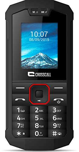 Crosscall Spider X1 Telefono Cellulare, IP67, Display 1,77 Pollici, Dual SIM, Bluetooth, Torcia, Nero [EU]