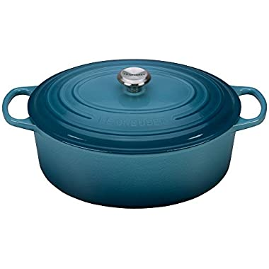Le Creuset Signature Enameled Cast-Iron 9.5 Quart Oval French (Dutch) Oven, Marine