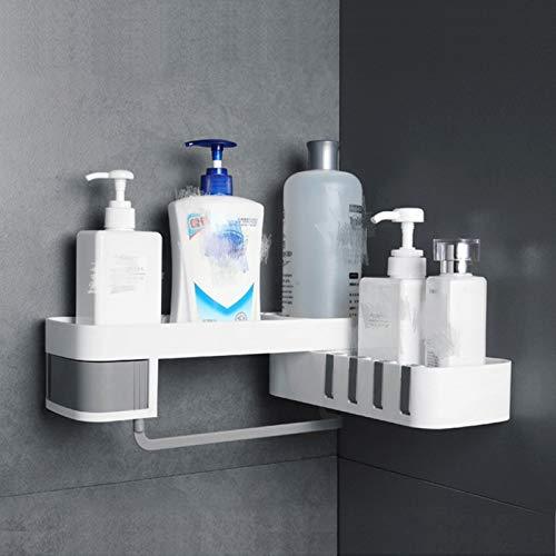 Mentalism Duschregal Wandregal Duschregal Geeignet Drehregal für Badezimmer Küchenzubehör (Grau)