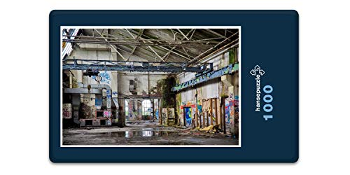 hansepuzzle 67939 Industrie - alte Lagerhalle, 1000 Teile in hochwertiger Kartonbox, Puzzle-Teile in wiederverschliessbarem Beutel.