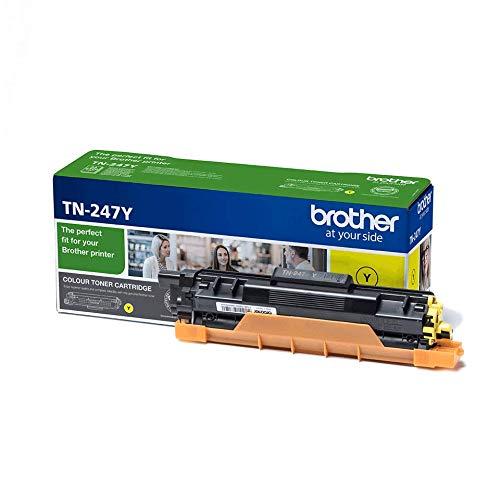 Brother TN247Y - Cartucho de tóner amarillo original, para las impresoras HLL3210CW, HLL3230CW, HLL3270CW, DCPL3510CW, DCPL3550CW, MFCL3710CW, MFCL3750CW, MFCL3770CDW