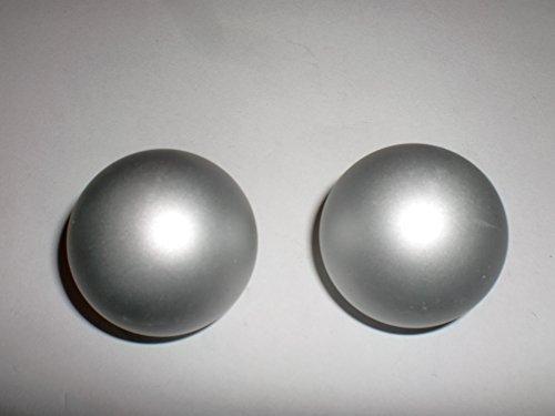 """Endstück, Endkappe """"Ball"""" für Gardinenstangen alu-silber 2 Stück ø 20 mm"""
