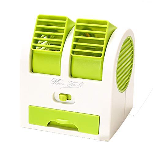 Mobile Ventilator Klimaanlage Persönlicher Mini Klimageräte USB Tragbar Luftkühler Ventilator Luftbefeuchter und Luftreiniger LED Beleuchtung Luftkühler (Grün)