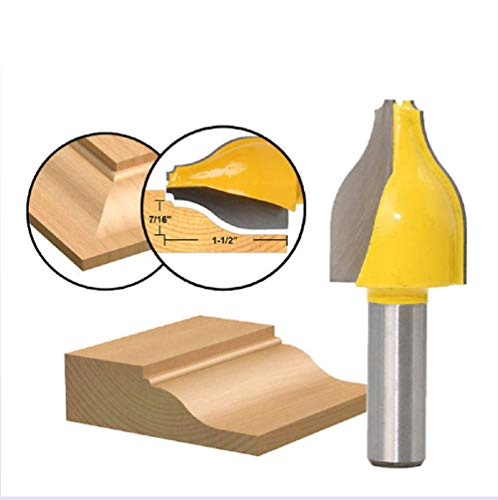 1Pc 12.7Mm 1/2 Shank Vertical Panel Verhoogde Ogief Kralen Router Bit Houtbewerking Deur Line Frees for Wood Gereedschap MC03146