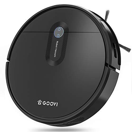 Robot Vacuum, GOOVI by ONSON 2000Pa Upgrade Robotic Vacuum Cleaner with Gyroscope, Self-Charging Vacuum with Boundary Strips, Pet Hair, Hard Floor, Carpets